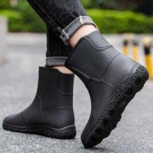남성 앵클 레인 부츠 여름 패션화 방수 고무 신발