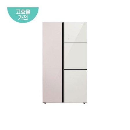 양문형 냉장고 WWRG818ESJRD1 (801L, 샤인라벤더, 샤인베이지)