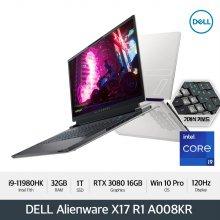 [예약판매/신제품] DELL 에일리언웨어 X17 R1 A008KR [i9/32GB/1TB/UHD 120Hz/RTX 3080/Win10 Pro]