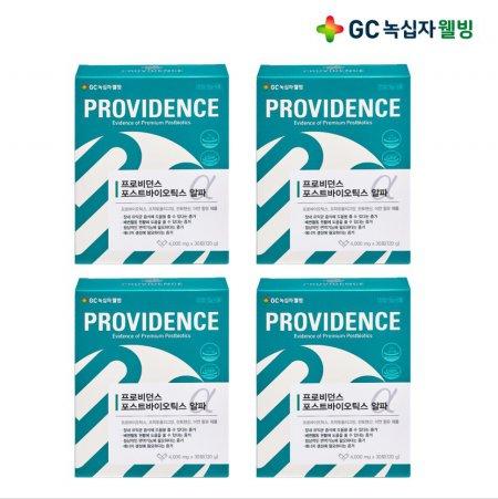 GC녹십자웰빙 프로비던스 포스트바이오틱스 알파 30포 1+3 (총 4박스)