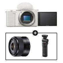소니 카메라 패키지[ZV-E10L 화이트+SEL35F18+GP-VPT2BT]