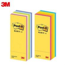 3M 포스트잇 큐브노트 파스텔 형광 5컬러 613 (25x76m