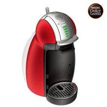 캡슐형 커피머신 GENIO2-RED 지니오2 (레드) [ 1L 분리형 워터탱크 / 30가지 다양한 캡슐 메뉴 / 8단계 물조절 가능 / 4단계 드립트레이 ]