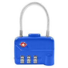 TSA 3중번호 와이어 자물쇠 CLUTCH 실버