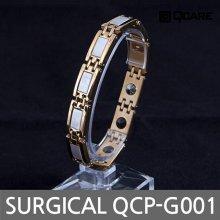 써지컬 게르마늄 자석 팔찌 QCP-G001 (골드 L)