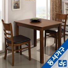 케빈 2인용 식탁테이블(의자미포함) DF629499 (화이트)