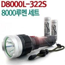 야토 LED 후레쉬 D8000L3 써치라이트 충전식 손전등