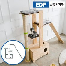 EDFby동서가구 펫츠펀 원목 캣타워 화장실형+스크래쳐+슬로프 I형 DF636840 _내추럴