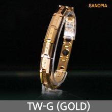 사노피아 게르마늄 텅스텐 팔찌 TW-G (골드 S)