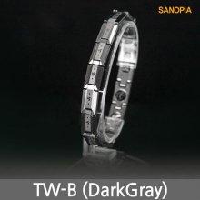 사노피아 게르마늄 텅스텐 팔찌 TW-B (다크 S)