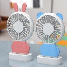 휴대용 LED 미니 코코 선풍기 코코 선풍기 거치대포함 블루