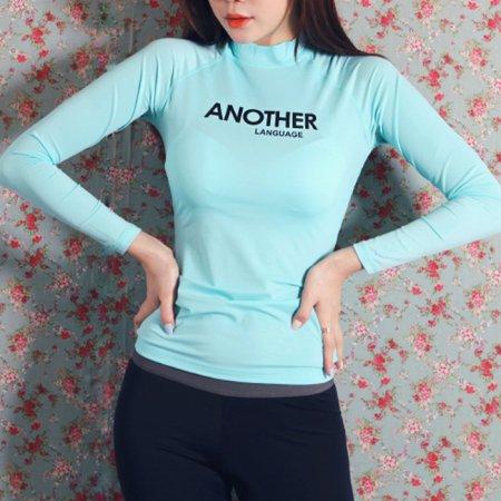 ANOTHER 래쉬가드 민트 S 여성