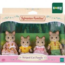 [실바니안공식] 5180-줄무늬 고양이 가족