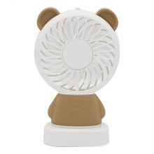 레드블랙 블랙스톰 K3 휴대용 LED 선풍기 (곰 - 브라운)