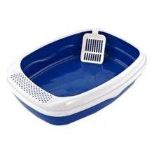 CF-S08A 평판형 고양이화장실 모래삽(블루) 고양이모래 W1B6132