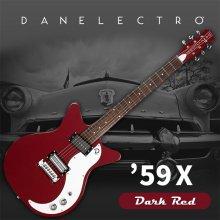 Danelectro 59X Electric Guitar - Dark Red
