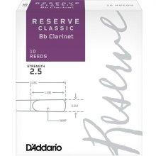 Daddario RESERVE 클라리넷 클래식 리드 Bb 2 ½ (DCT1025)