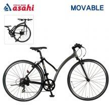 아사히자전거 하이브리드 모바블자전거700C 알루미늄 후레임 무료배송※고객조립필요