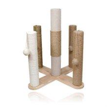 3가지 로프 기둥스크래쳐 펜타곤 켓타워(07871F)