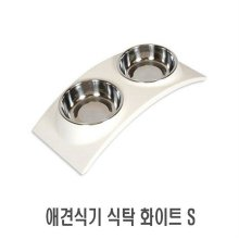 애견식기 식탁 화이트 S 1p _04B131