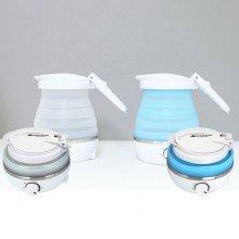컬링스톤 휴대용 접이식 전기포트 (블루) 800ml