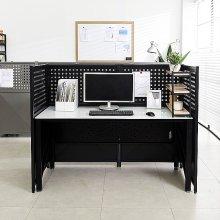 철재 타공 600 파티션 책상 독서실 업소 사무실칸막이 1.블랙