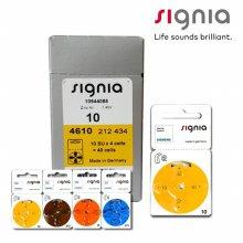 시그니아 보청기 배터리 보청기약 4알 01. 배터리10(노란색) 1판 4알