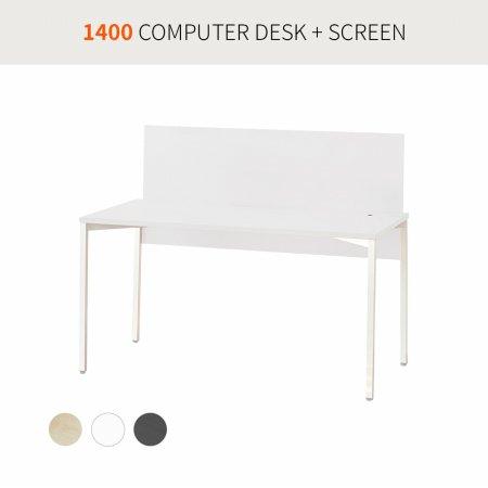 [코아스]1400 컴퓨터데스크+스크린 OSD1403SN