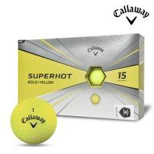 2020 캘러웨이 슈퍼핫 볼드 골프공 15알 옐로우 골프볼 골프용품 필드용품 Callaway SUPERHOT BOLD