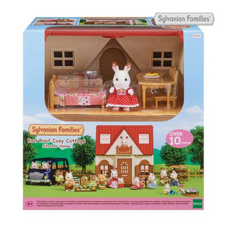 [실바니안공식]5303-초콜릿 토끼의 빨간지붕 이층집