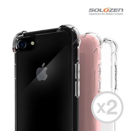 [1+1] 솔로젠 에어쿠션 범퍼 투명케이스 아이폰X/XS