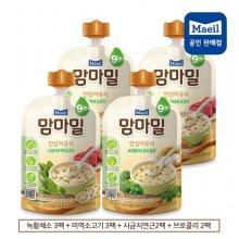 맘마밀 이유식 9개월 혼합 녹황3+미역3+시금치2+브로콜리2