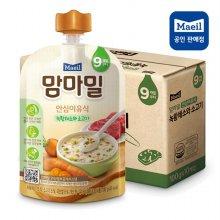 맘마밀 안심이유식 9개월 녹황채소와소고기 10팩