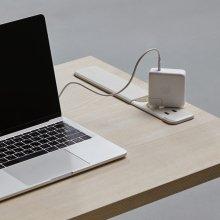 [비밀특가] DSAD610P 1인 노트북 책상 (빌트인 콘센트) 1000X600