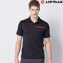 에어워크 반팔 솔리드 카라티셔츠(남성) 0013M BLACK