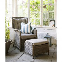 Salina lounge chair foot stool