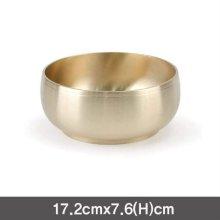 냉면기 유기비빔기 놋그릇(대)-17.2cm