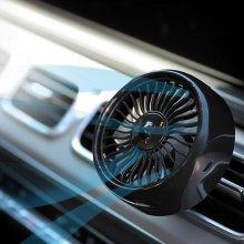 아트로마 송풍구 차량용 선풍기 LED 무드램프