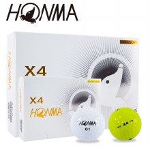 혼마 우레탄 소프트 X4 골프공 12구 4피스 2020년