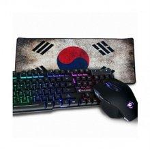 G-Clicker GMK-210 LED 키보드 마우스세트 대한민국