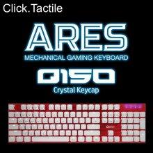 ARES Q150 크리스탈 키캡 LED 기계식키보드 레드 청축