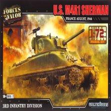 1/72 U.S M4A1 1944년 제2차 세계대전 프랑스 셔먼 전차 조립킷