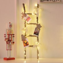 내츄럴사다리(전구포함) 크리스마스장식 벽트리 소품