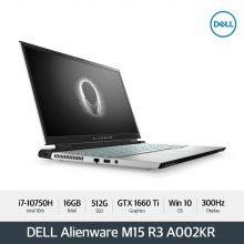 Alienware M15 R3 A002KR 노트북 [i7-10750H/16G/15.6(300Hz)/512GB/GTX 1660Ti/ WIN10]