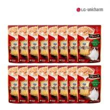 [유니참] 미쓰보시 구루메 후레이크(닭가슴&참치&가다랑어) 35g 16팩