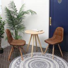 로페 가죽 에펠 체어/디자인의자 2개