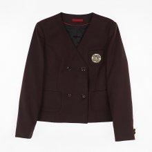 [교복아울렛] 노카라 와인 더블 버튼 여자 자켓 교복
