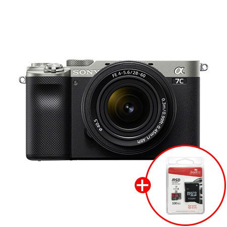 [32G메모리 증정]소니 알파 A7C 원핸드 컴팩트 풀프레임 카메라 렌즈KIT[실버][본체+28-60mm][ILCE-7CL_SILVER]