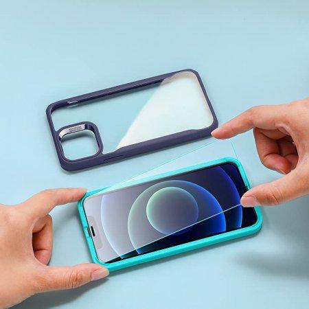 ESR 아이폰12pro max 가이드 풀커버 강화유리 2팩
