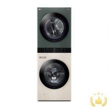 워시타워 오브제 컬렉션 세탁기(24kg)+건조기(16kg) 세트 W16EG (원바디 플랫 디자인, 원바디 런드리 컨트롤, 건조 준비기능, 드럼-베이지,건조기-그린)